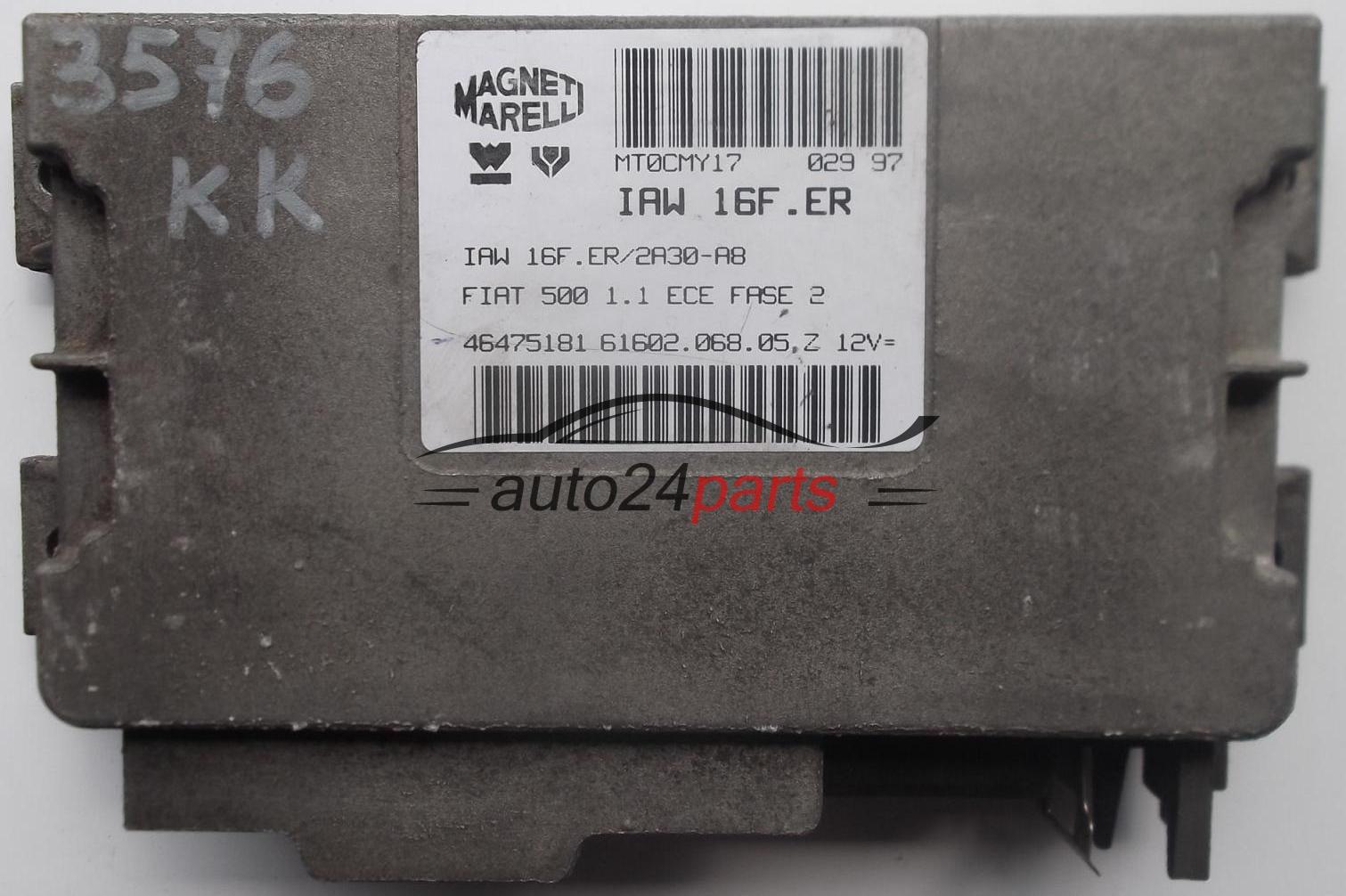 Блок управления двигателем fiat 600 magneti marelli iaw 16fmed, iaw16fmed, 46555915, 6160209603 e, 6160209603e