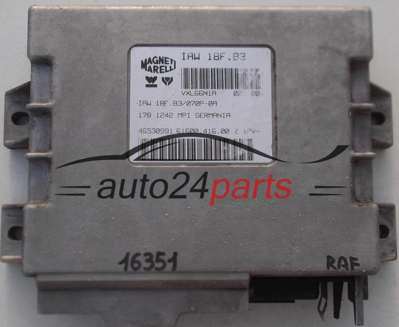 Centralina do motore peugeot 206 magneti marelli iaw 1ap80, iaw1ap80, 16300464, 16300464, 9636726980 e