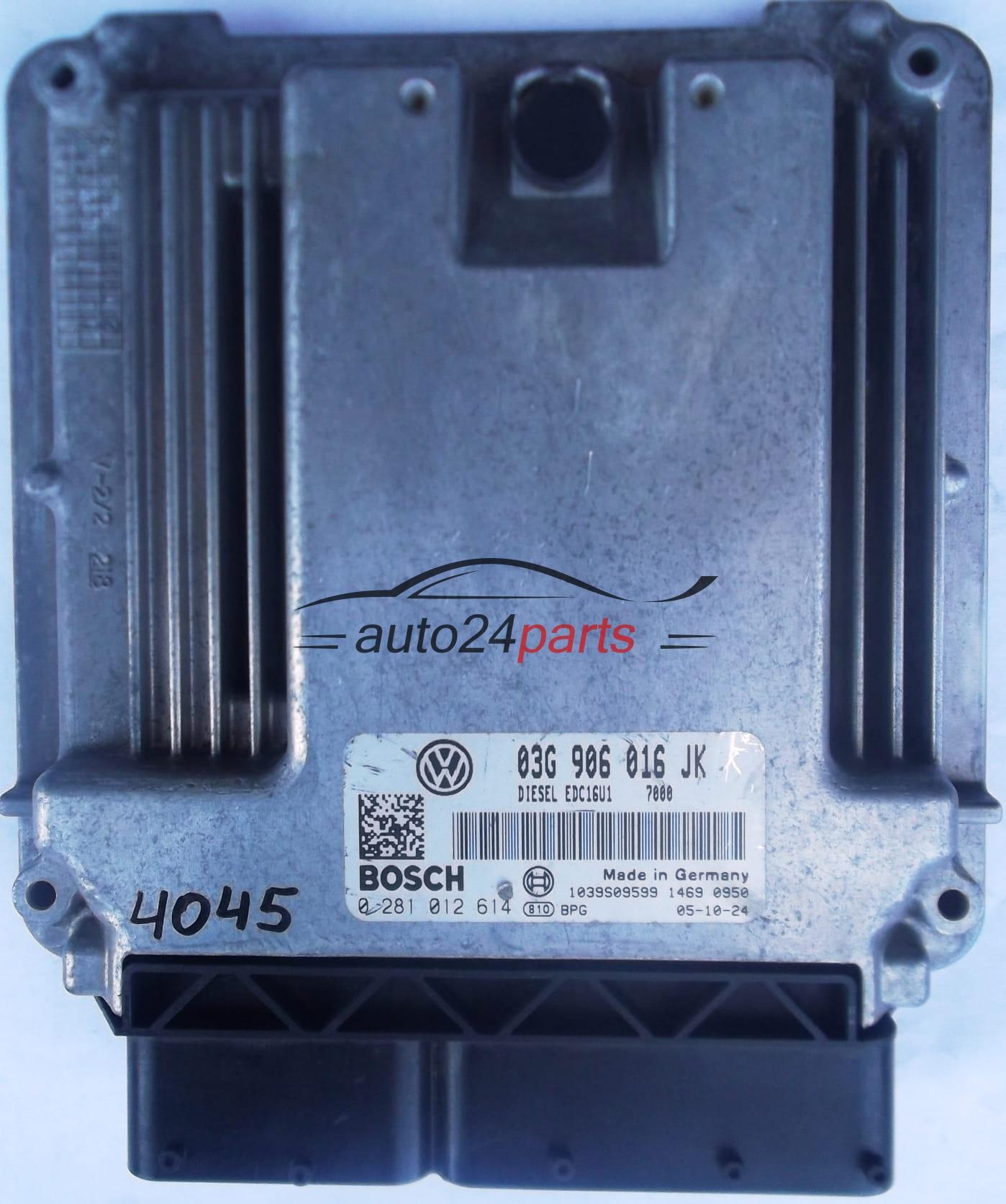 ECU ENGINE CONTROLLER VW VOLKSWAGEN JETTA 1.9 TDI BOSCH 0 281 012 614 , 0281012614, 03G 906 016 ...