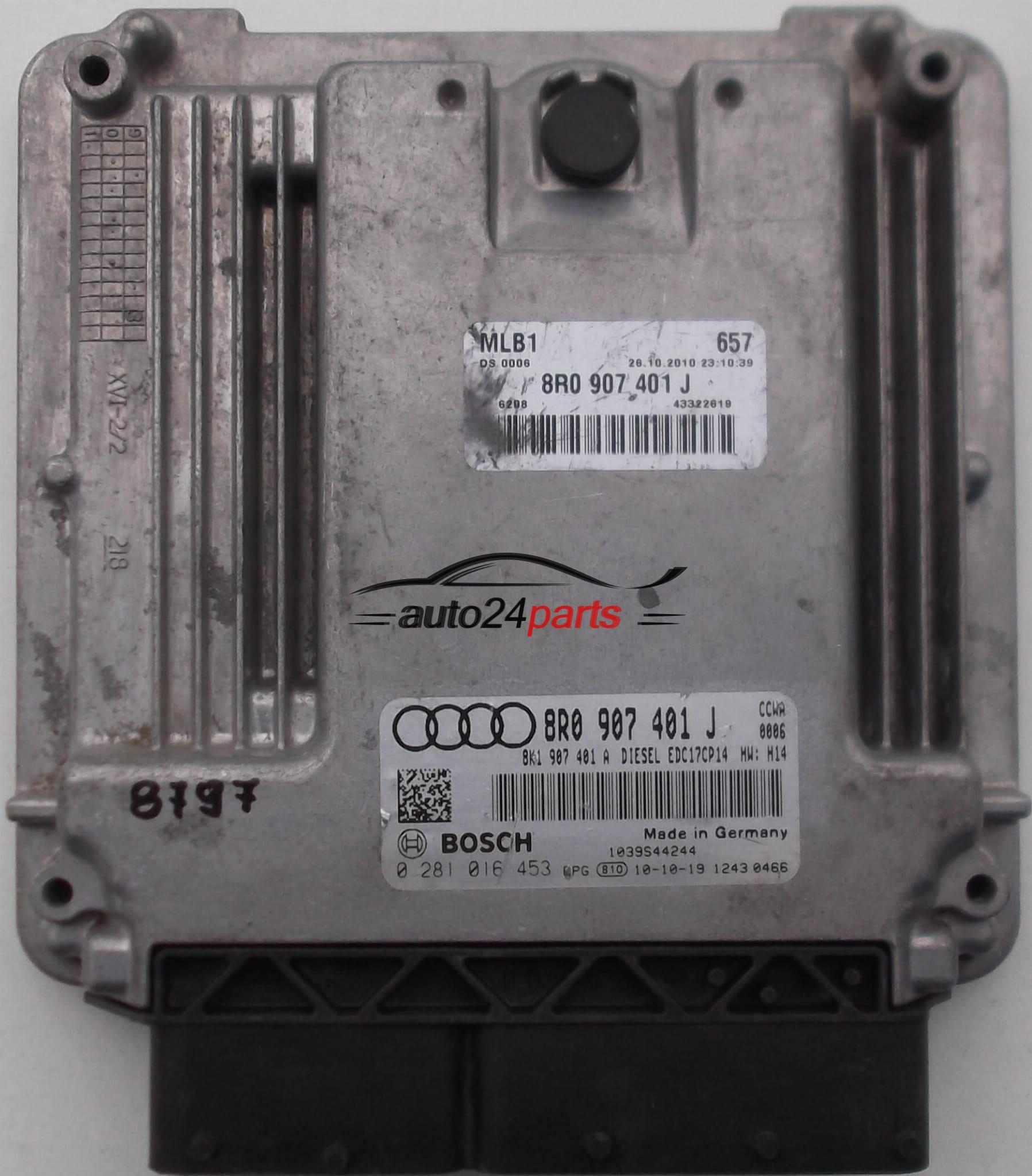 2011 Audi A4 Engine: ECU ENGINE CONTROLLER AUDI A4 A5 3.0 TDI BOSCH 0 281 016