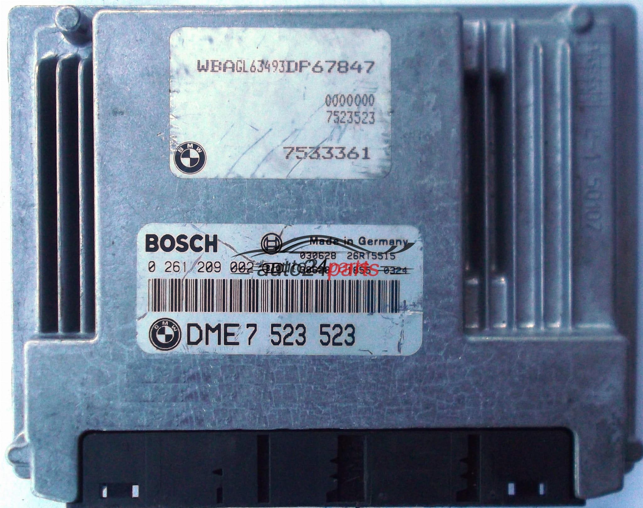 ECU ENGINE CONTROLLER BMW E65 735 745 BOSCH 0261209002, 0 261 209 002, DME  7523523, 7 523 523, DME7523523