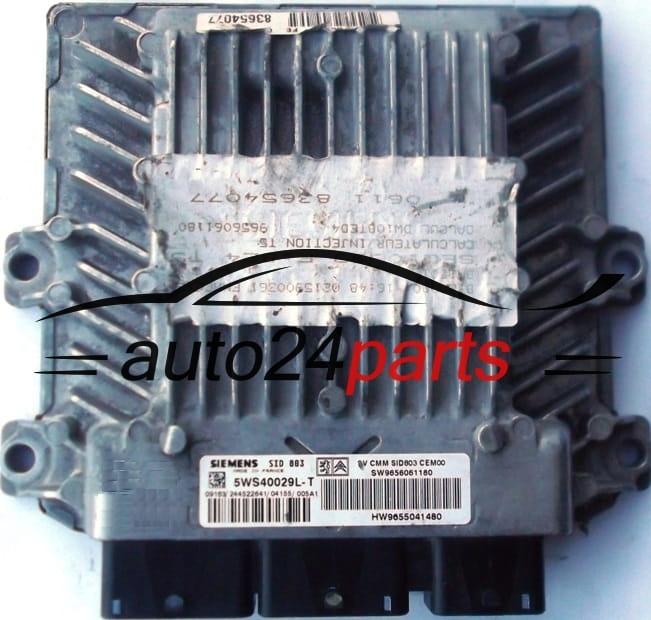 ECU ENGINE CONTROLLER PEUGEOT 307 2 0 HDI SIEMENS 5WS40029L-T, 5WS40029LT,  SW 9656061180, HW 9655041480, SID803