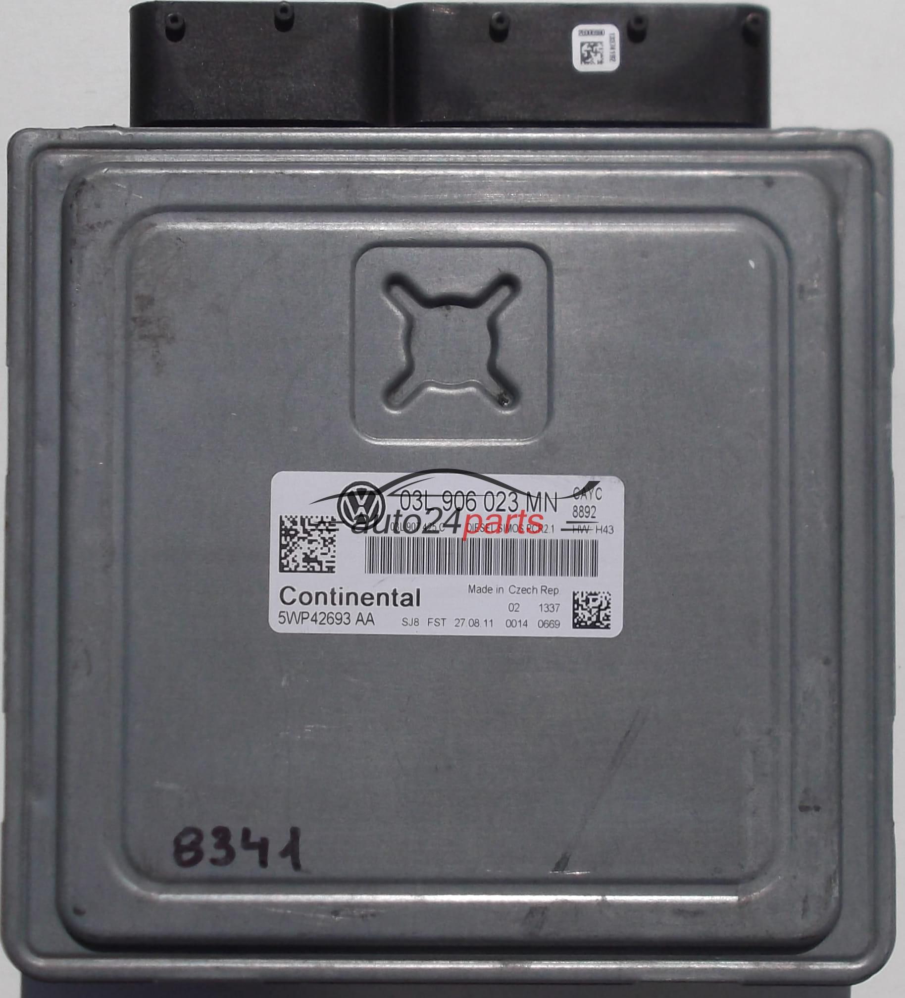 ECU ENGINE CONTROLLER VW VOLKSWAGEN GOLF MK6 1 6 TDI, 5WP42693AA,  03L906023MN, SIMOS PRC2 1