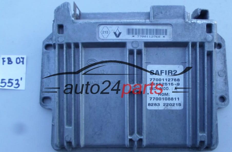 ECU ENGINE CONTROLLER RENAULT KANGOO 1 2 21652515-9, 216525159, 7700112768,  7700108811