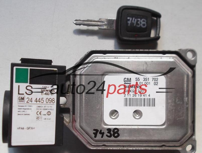 ECU ENGINE CONTROLLER OPEL ASTRA ZAFIRA 1 8 Z18XE SIEMENS 5WK9 1720,  5WK91720, GM 55 351 702, 55351702