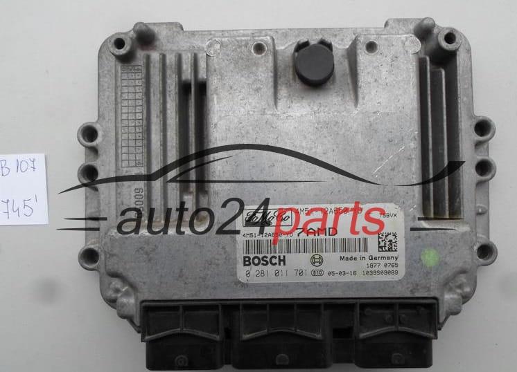 ECU ENGINE CONTROLLER FORD FOCUS 1 6 TDCI BOSCH 0 281 011 701, 0281011701,  4M51-12A650-YD, 4M5112A650YD