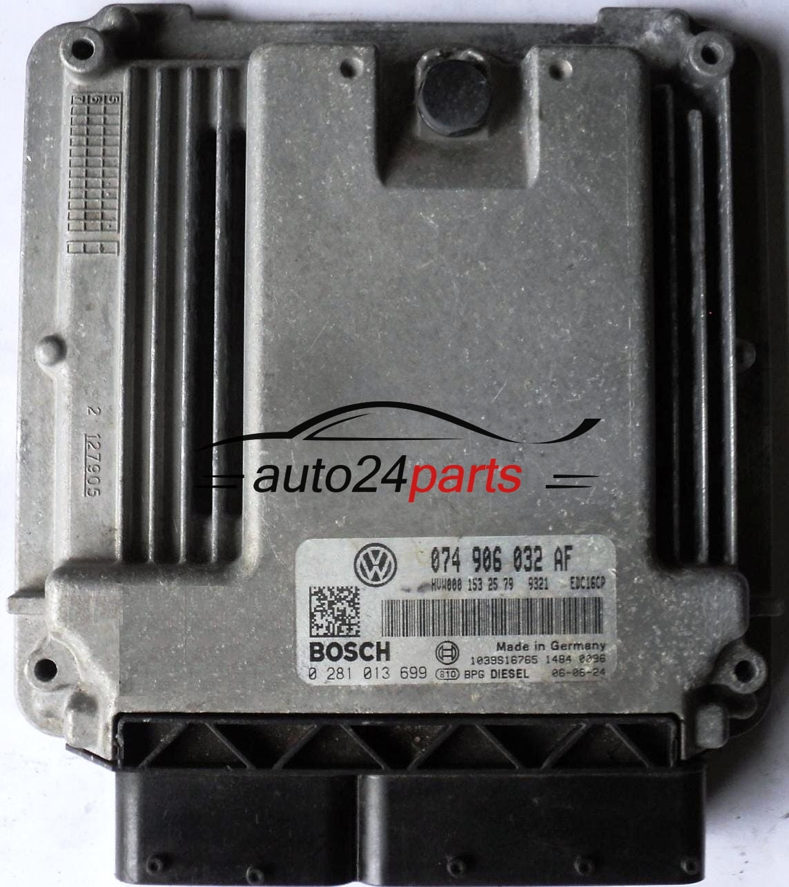 ECU ENGINE CONTROLLER VW VOLKSWAGEN CRAFTER 2,5 TDI 074906032AF, 074 906  032 AF BOSCH 0281013699, 0 281 013 699