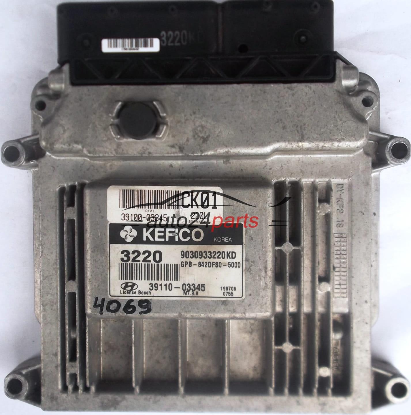 ECU ENGINE CONTROLLER HYUNDAI I20 1 2 3910003345 CK01 39100-03345  3911003345 39110-03345 3220 9030933220KD GPB842DFS05000 GPB-842DFS0-5000