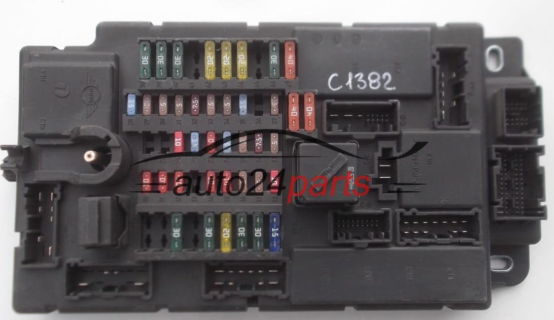 fuse relay box electrical comfort module bsi mini cooper 6135 3453737 01