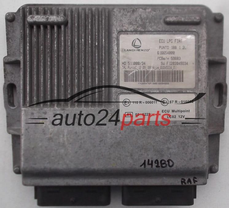 Ecu Engine Lpg Landirenzo Fiat Punto 188 616654000 110r