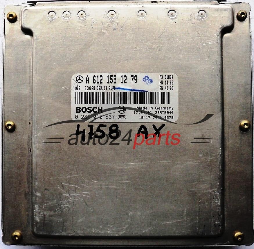 ECU ENGINE CONTROLLER MERCEDES W210 E-KLASS E270 CDI A6121531279,  6121531279, A 612 153 12 79, BOSCH 0281010537, 0 281 010 537, ED0028 CR2 14