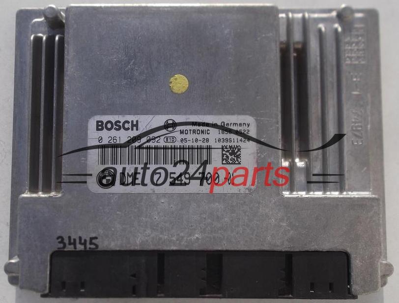ECU ENGINE CONTROLLER BMW E63/E64 650 4 0 V8 BOSCH 0261209092, 0 261 209  092, DME 7549700 -01, DME7549700, 7 549 700 -01, 1039S11424