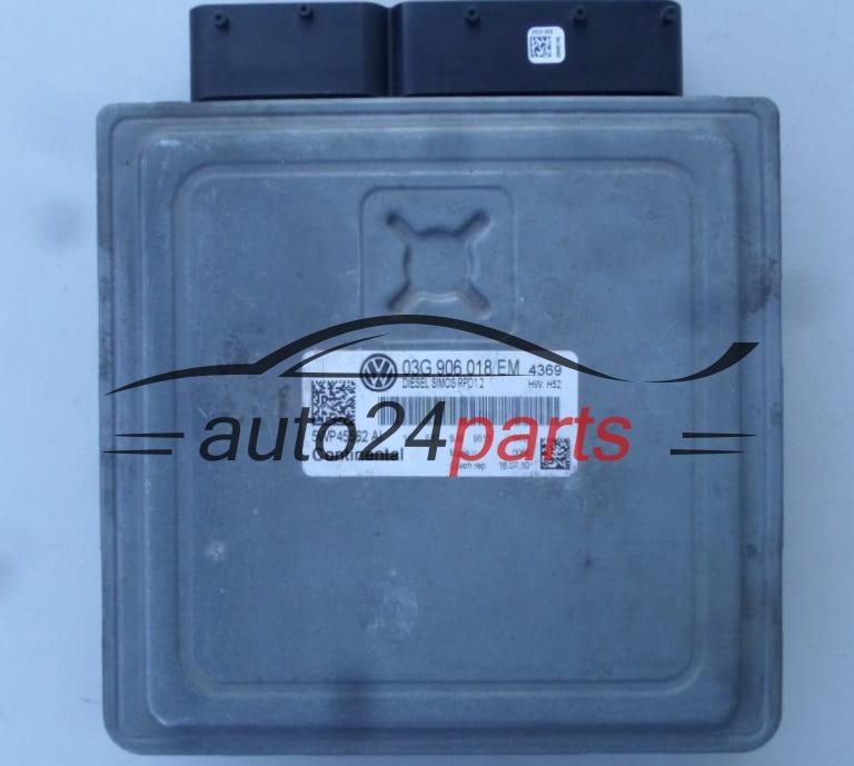 ECU ENGINE CONTROLLER VW VOLKSWAGEN PASSAT 2 0 TDI 03G 906 018 EM,  03G906018EM, SIEMENS VDO 5WP45562, DIESEL SIMOS PPD1 2