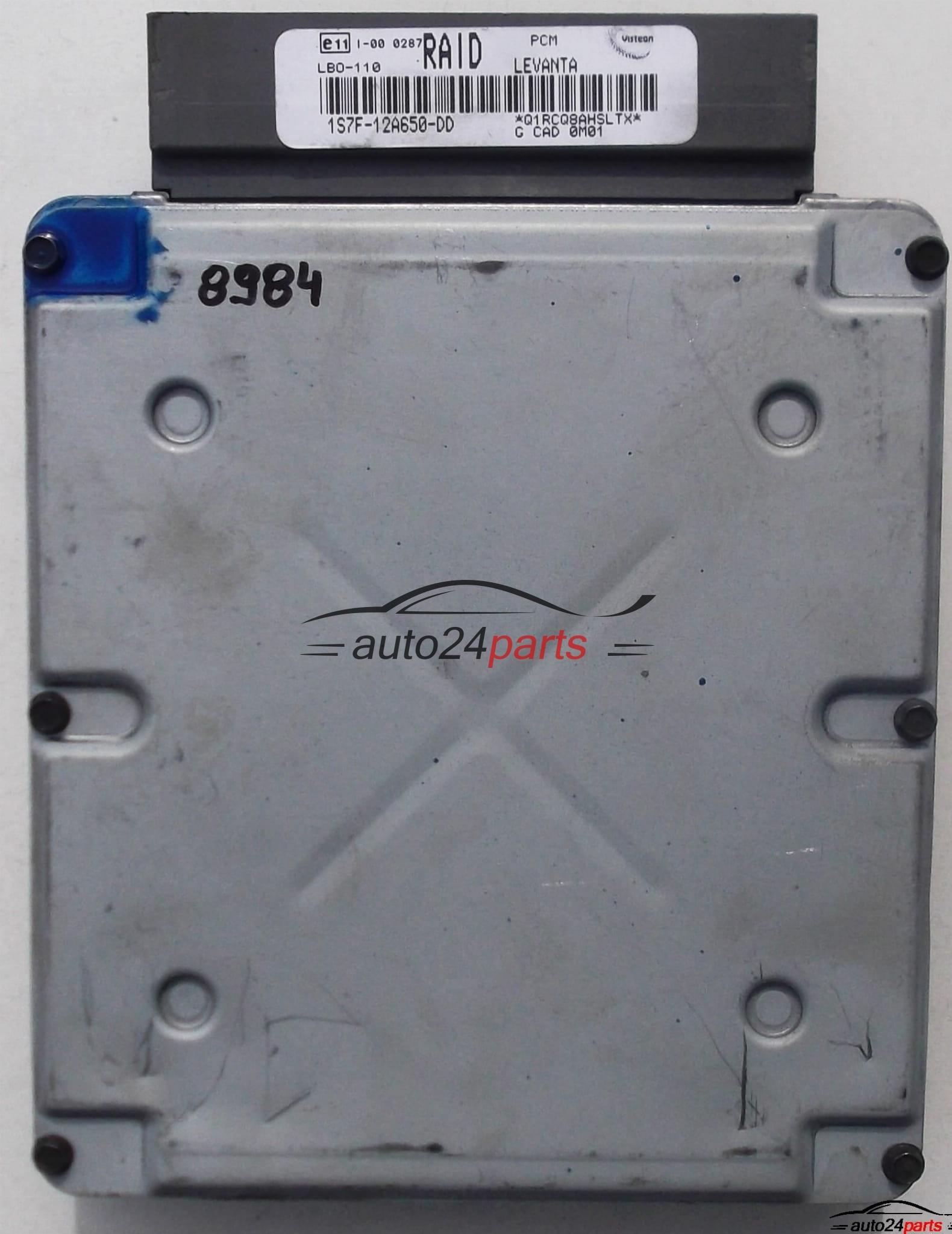 ECU ENGINE CONTROLLER FORD MONDEO MK3 2 0TDCI, 1S7F-12A650-DD,  1S7F12A650DD, RAID - 8984