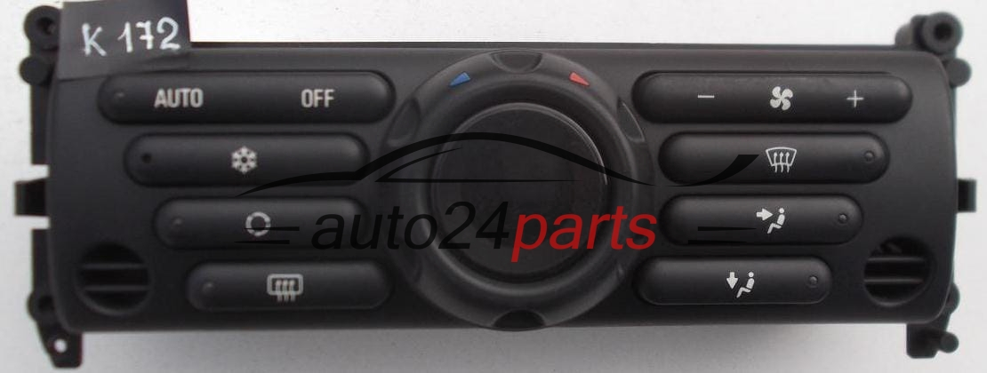 HEATING AND AIR CONDITIONING CONTROL PANEL SWITCH CLIMATRONIC BMW MINI  COOPER 6411 6 922 255 / 64116922255 / RG21901/001 / RG21901001 / 69412203