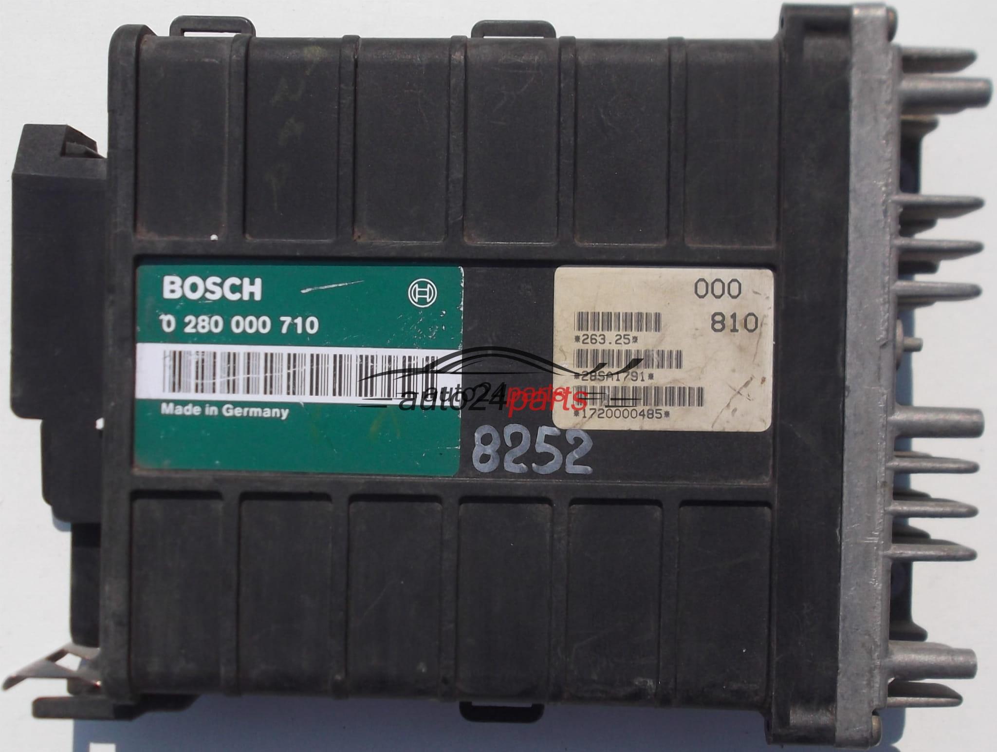 ECU ENGINE CONTROLLER VW VOLKSWAGEN PASSAT 2 0, BOSCH 0 280 000 710,  0280000710, 1720000485, 28SA1791