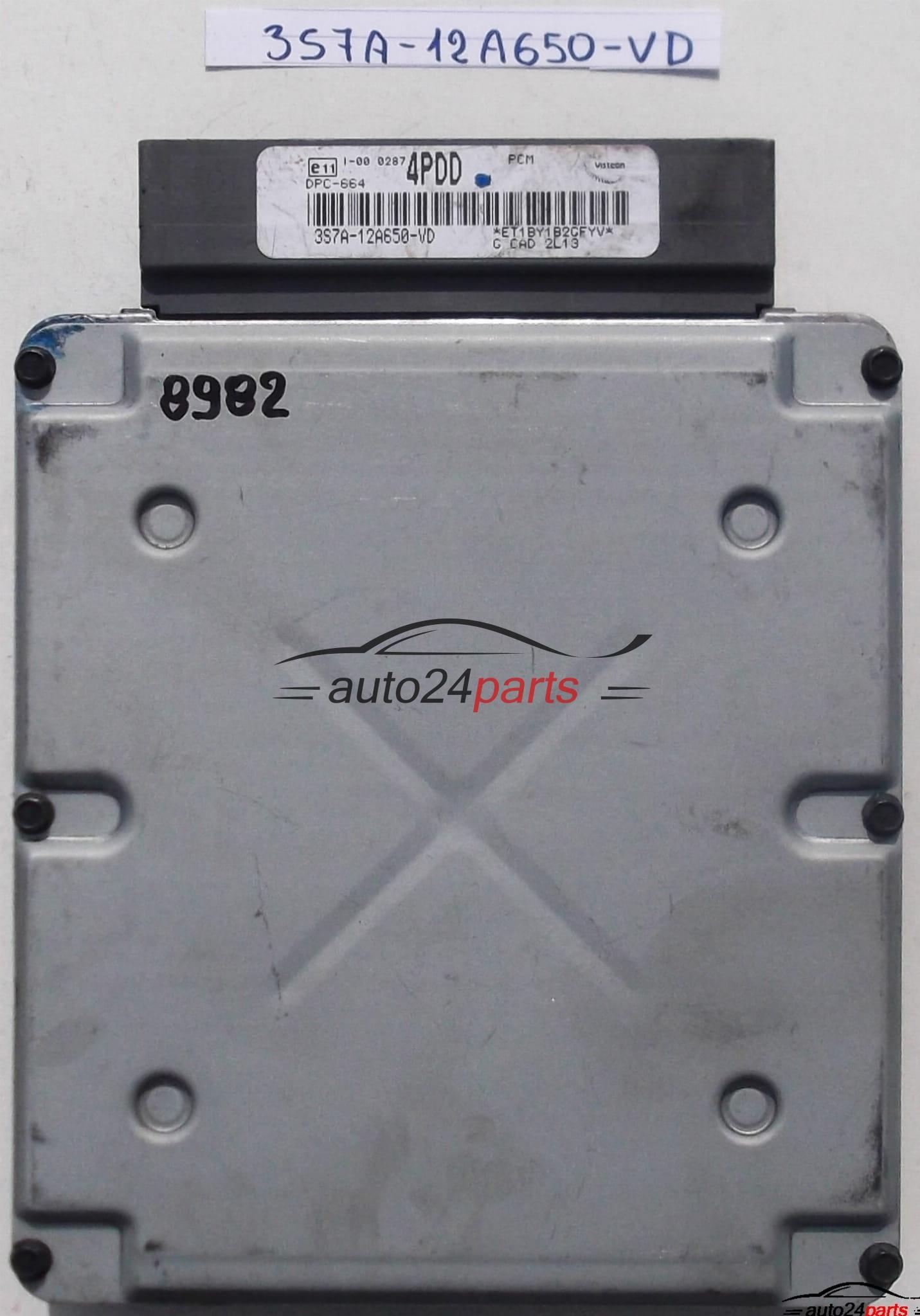 ECU ENGINE CONTROLLER FORD MONDEO MK3 2 0 TDCI VISTEON 3S7A-12A650-VD,  3S7A12A650VD, 4PDD