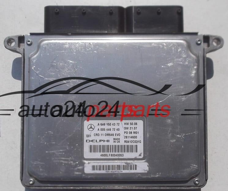ECU ENGINE CONTROLLER MERCEDES W204 DELPHI R0412C031G, A 646 150 43 72,  A6461504372, A 005 446 72 40, A0054467240, CRD 11