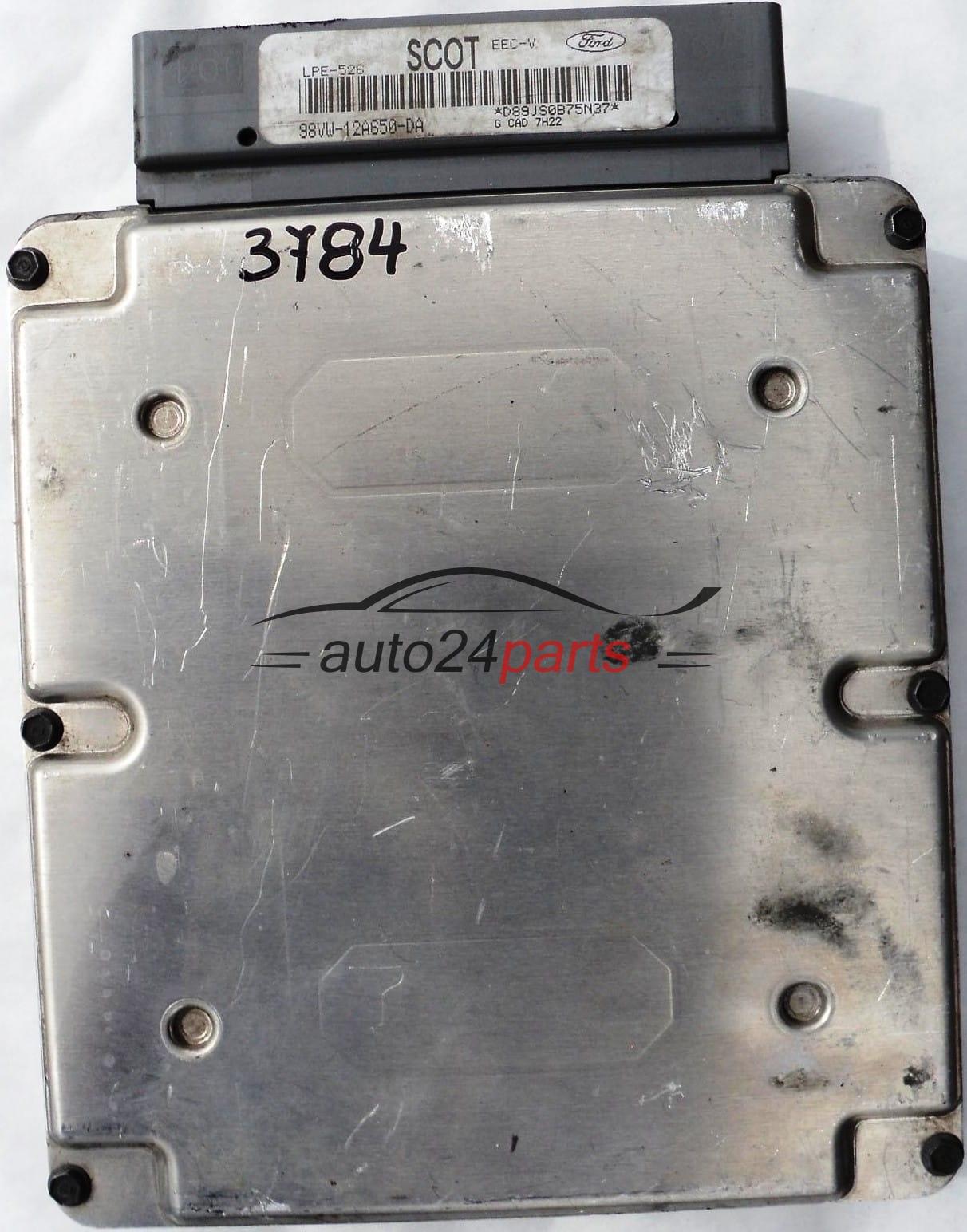 ECU ENGINE CONTROLLER FORD GALAXY 2 0 98VW12A650DA SCOT LPE-526 EEC-V,  98VW-12A650-DA