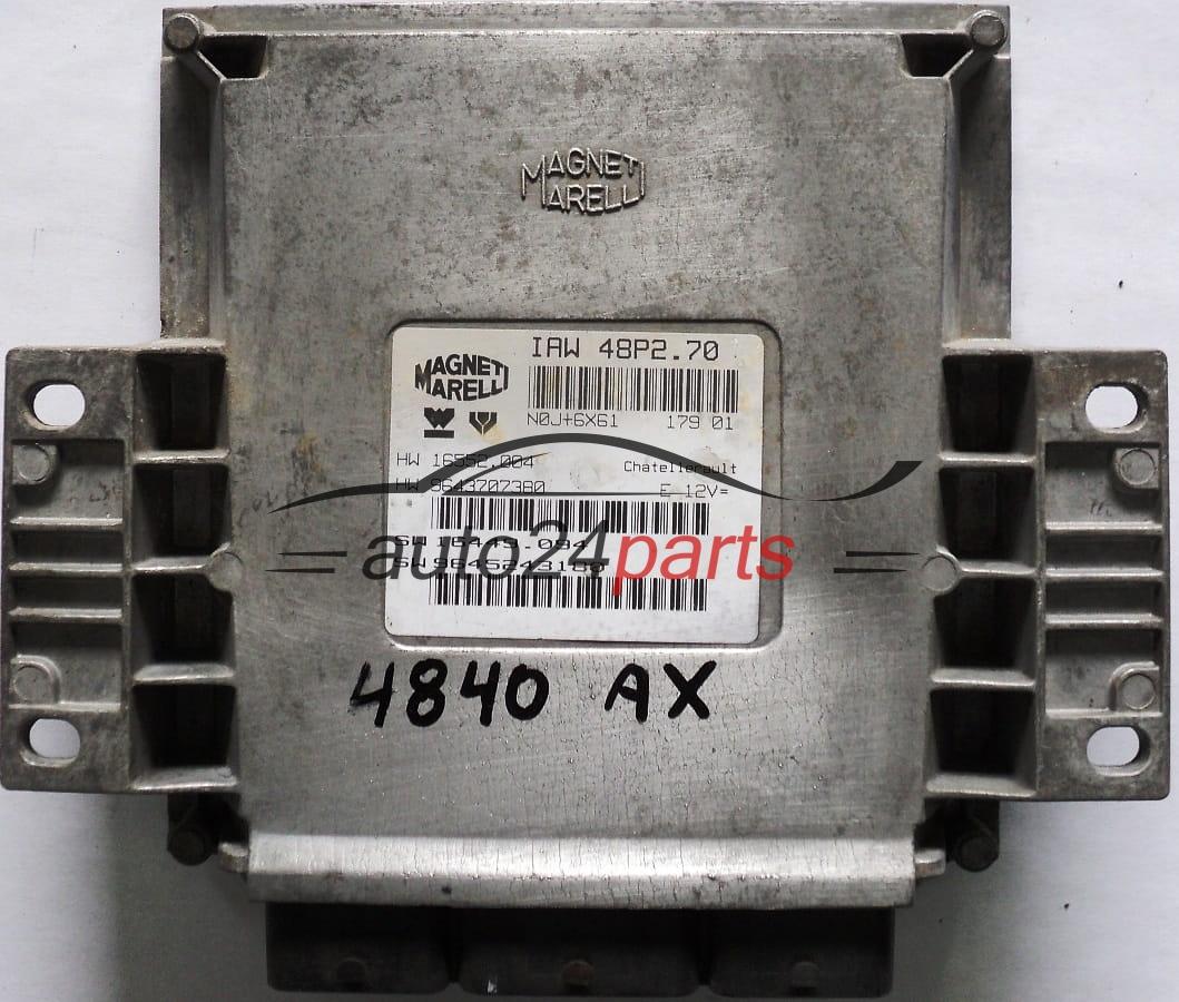 ecu engine controller peugeot 206 1.1 9645243180 iaw48p270