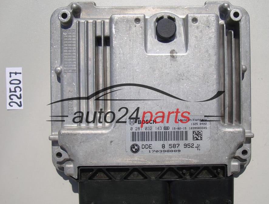 ECU ENGINE CONTROLLER BMW F10 BOSCH 0 281 032 143, 0281032143, DDE 8587952,  DDE8587952
