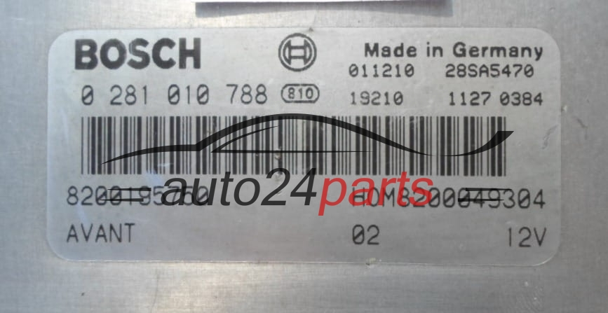 les pi ces automobiles calculateur moteur renault clio megane 1 9 dti bosch 0 281 010 788. Black Bedroom Furniture Sets. Home Design Ideas
