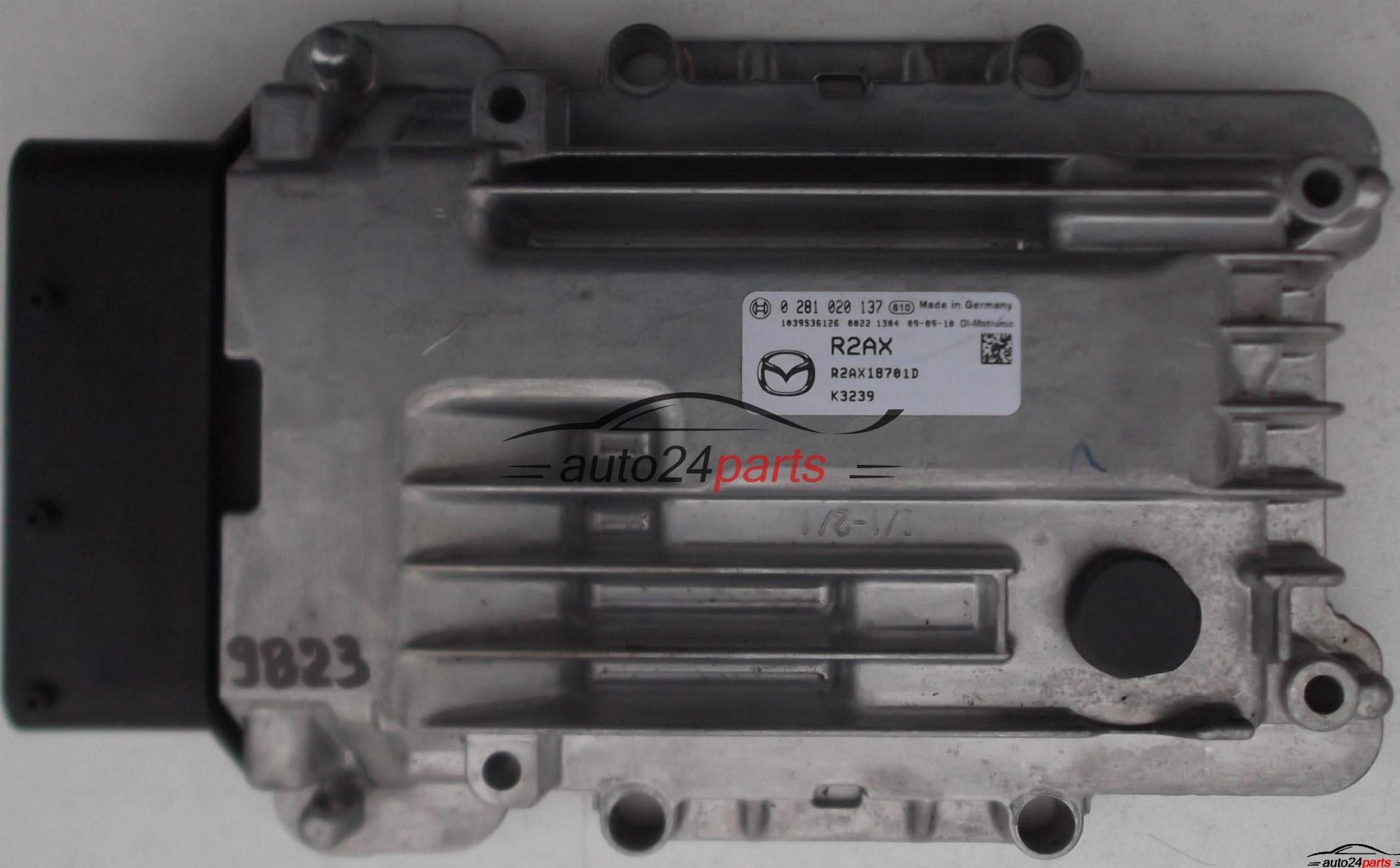 ECU ENGINE CONTROLLER MAZDA CX-7 2 2 BOSCH 0 281 020 137, 0281020137, RZAX,  RNAX18701D