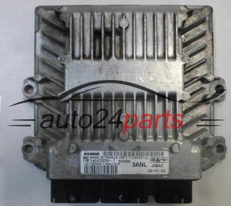 ECU ENGINE CONTROLLER FORD FOCUS 1 8 TDCI 4M51-12A650-JL, 4M5112A650JL,  5WS40303K-T, 5WS40303KT, 3ANL