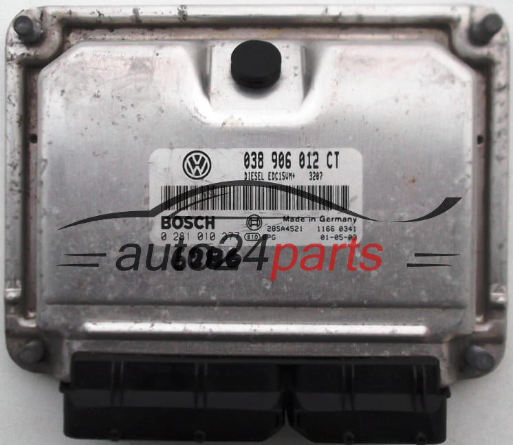 ECU ENGINE CONTROLLER VW VOLKSWAGEN POLO 1 9 SDI 038906012CT, 038 906 012  CT BOSCH 0281010377, 0 281 010 377