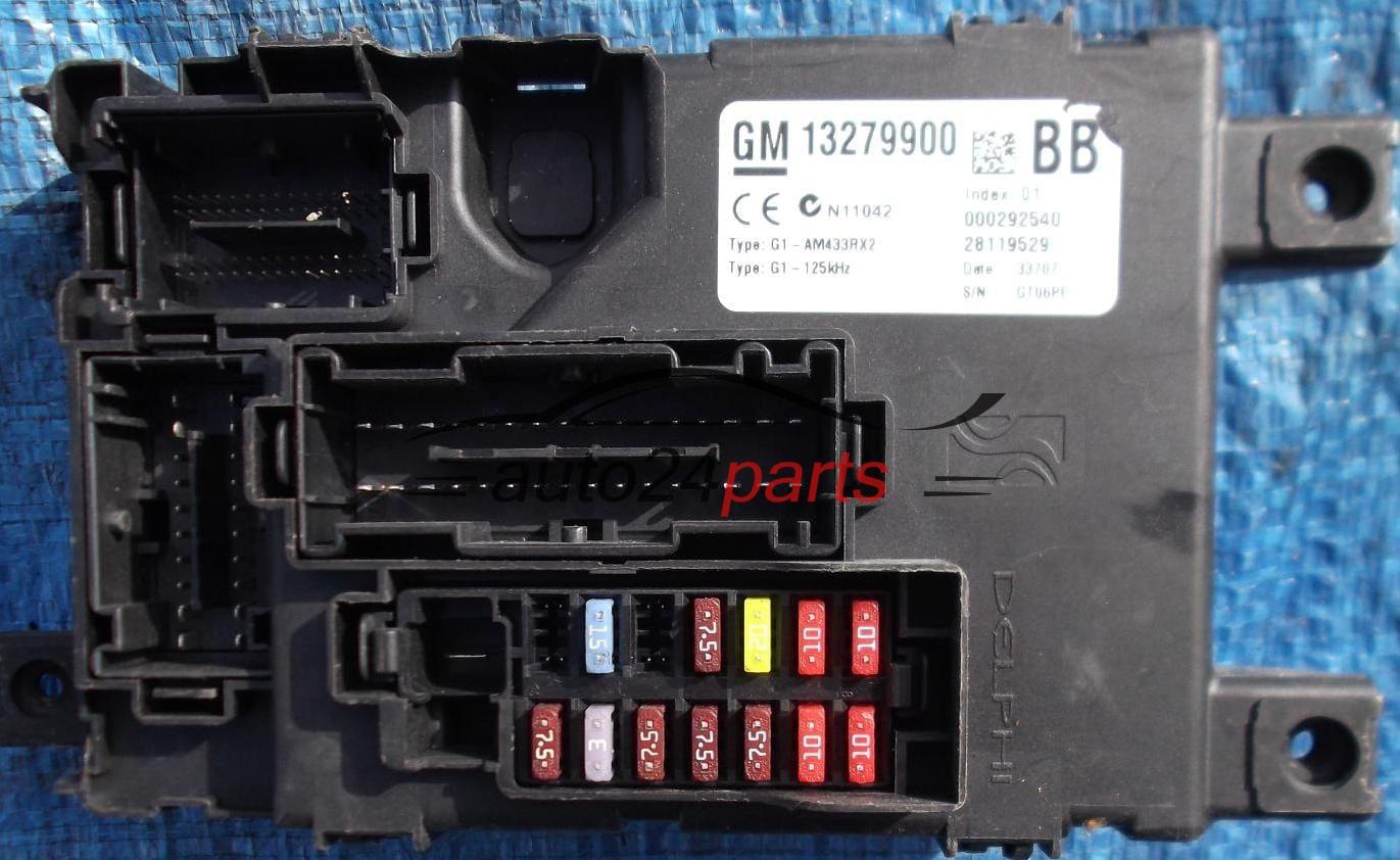 caja electrica de fusibles trasera unidad de control opel corsa d 13279900 bb 000292540. Black Bedroom Furniture Sets. Home Design Ideas