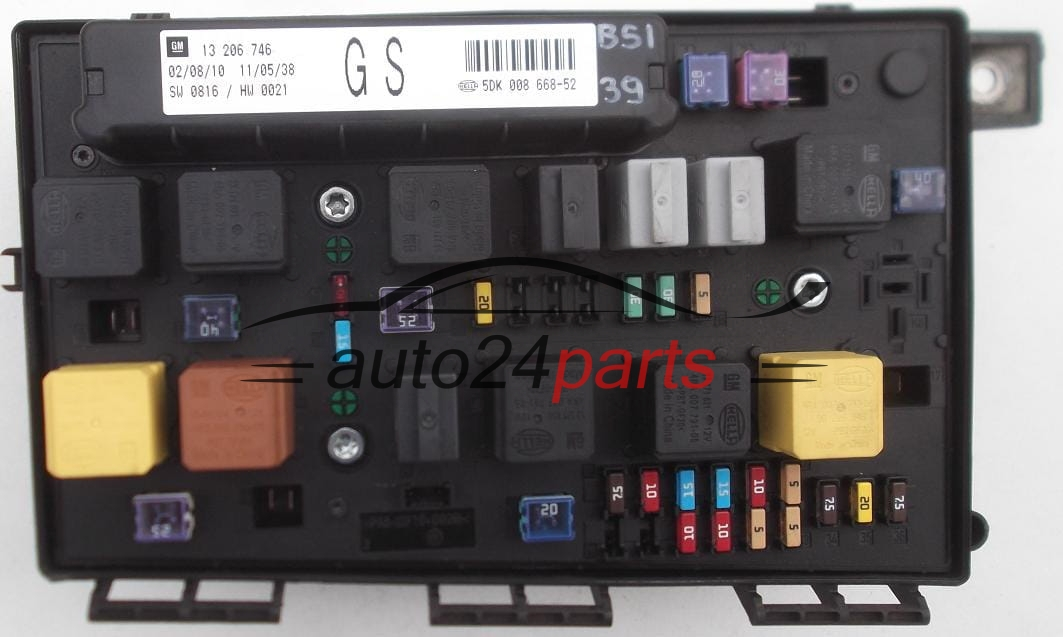 fuse relay box electrical comfort control module body opel astra h fuse relay box electrical comfort control module body opel astra h zafira b 13 206 746
