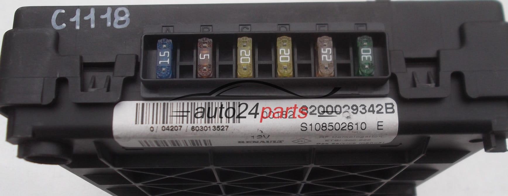 Fuse Relay Box Electrical Comfort Control Module Body Bsi