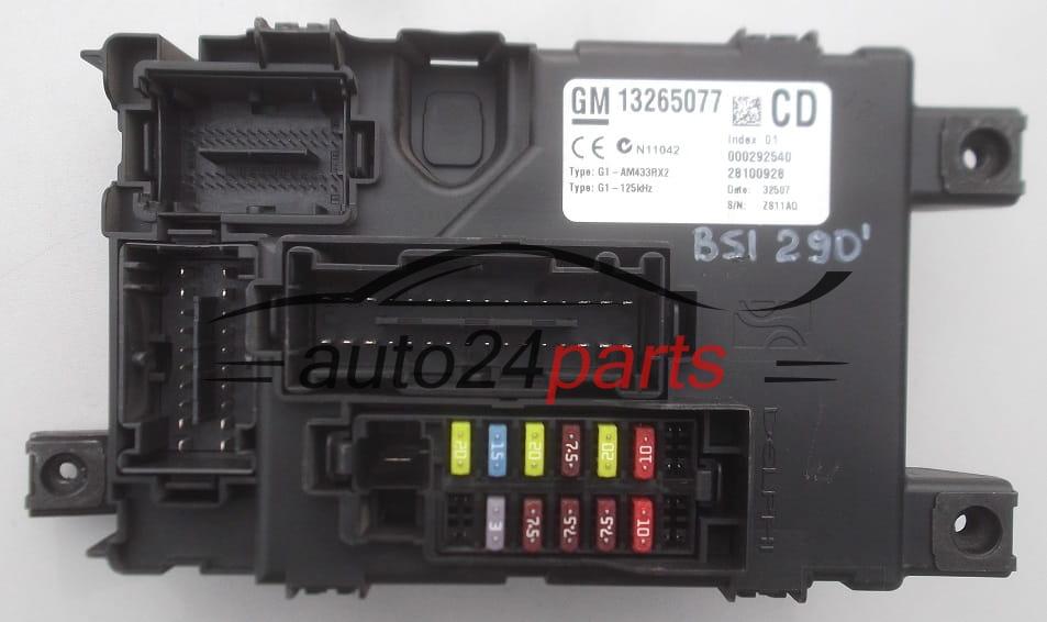 Caja Electrica De Fusibles Y Reles Opel Corsa D 13265077