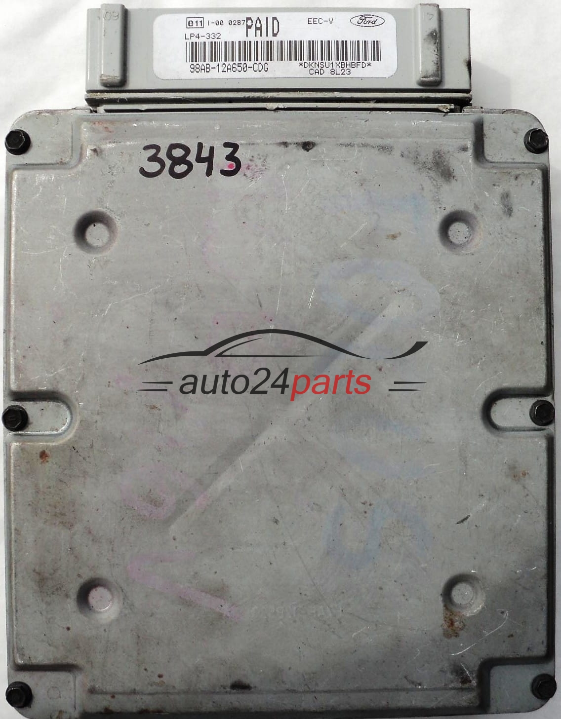 ECU ENGINE CONTROLLER FORD FOCUS 1 6 VISTEON 98AB-12A650-CDG 98AB12A650CDG  PAID LP4-332 EEC-V