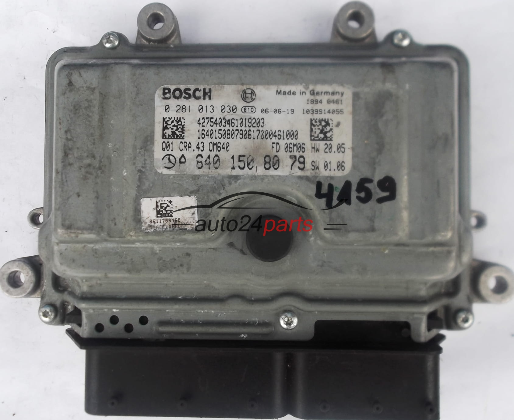 ECU ENGINE CONTROLLER MERCEDES W168 A180 2 0 CDI A6401508079, 6401508079, A  640 150 80 79, BOSCH 0281013030, 0 281 013 030