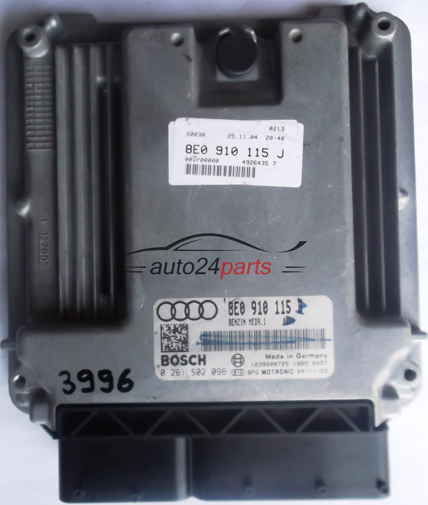 ECU ENGINE CONTROLLER AUDI A4 2.0 TFSI 8E0910115B, 8E0 910
