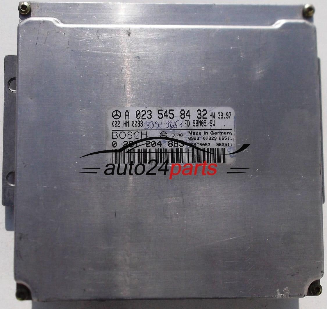 ECU ENGINE CONTROLLER MERCEDES W210 W202 BOSCH 0 261 204 883, 0261204883, A  023 545 84 32, A0235458432