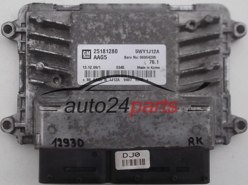 ECU ENGINE CONTROLLER CHEVROLET CRUZE GM 25181280 AAG5, 5WY1J12A