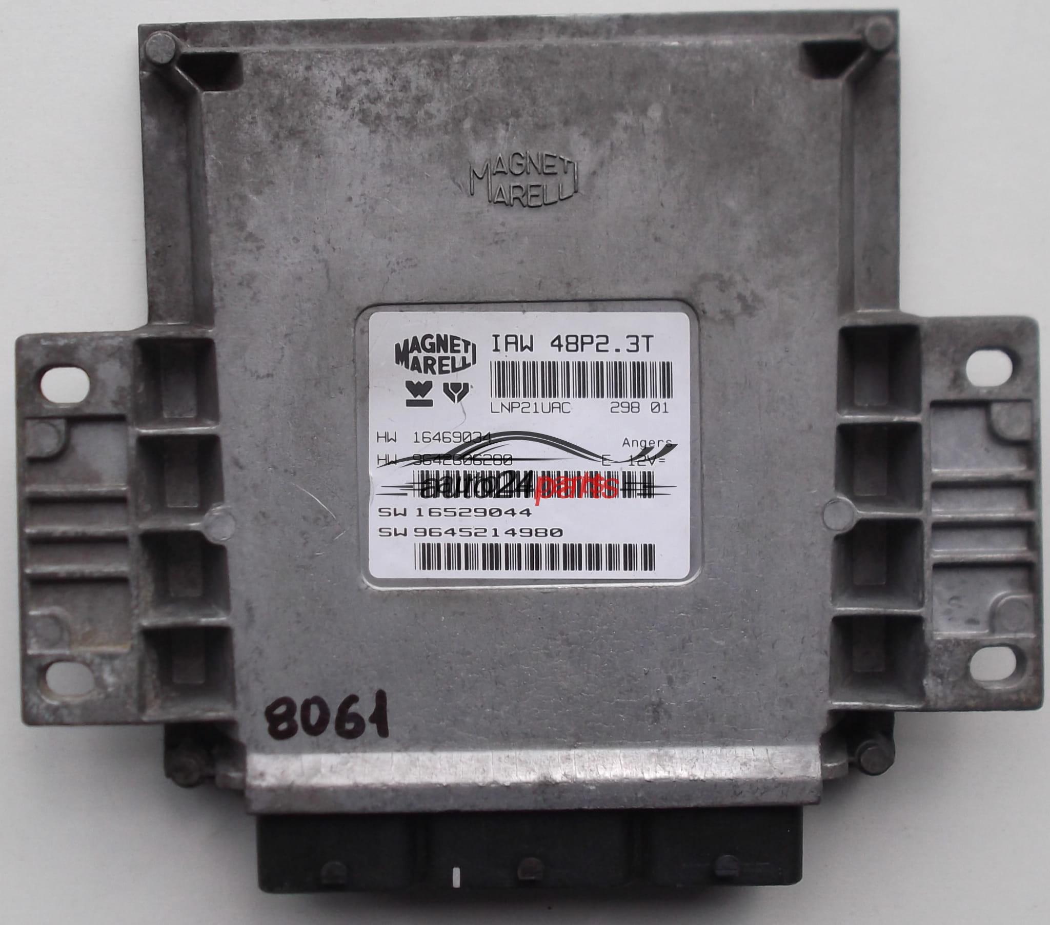 ECU ENGINE CONTROLLER PEUGEOT 206 MAGNETI MARELLI IAW 48P2.3T ...