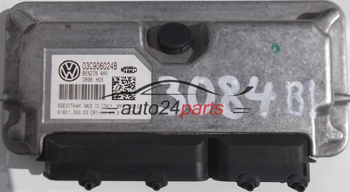 ECU ENGINE CONTROLLER SKODA FABIA 1.4 03C906024B, 03C 906 024 B, BENZIN 4HV 0896 H05, 61601.393 ...