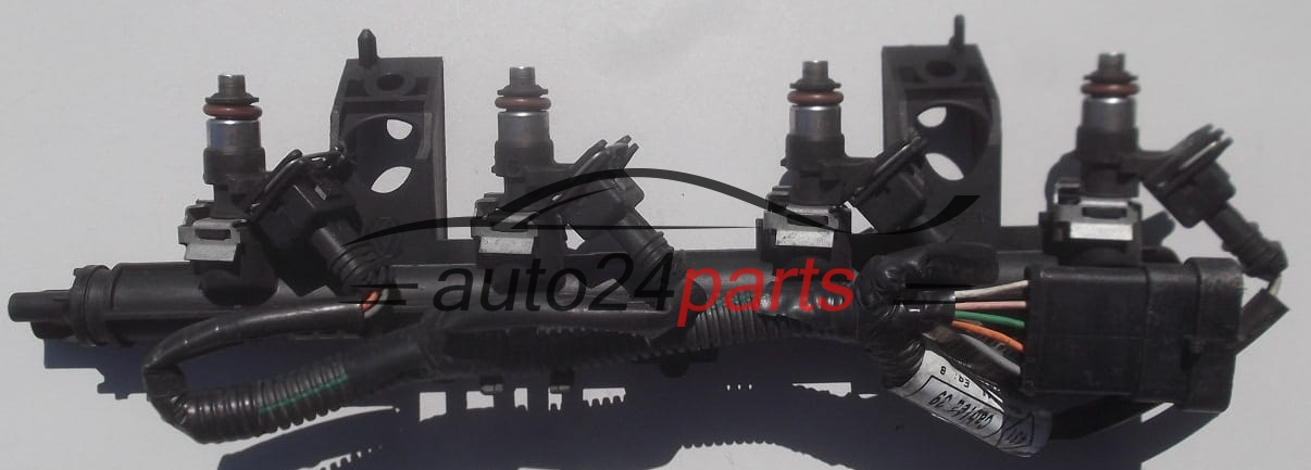 fuel injector and fuel rail petrol renault clio iii 1 2 16v bosch 0 280 158 046 0280158046. Black Bedroom Furniture Sets. Home Design Ideas