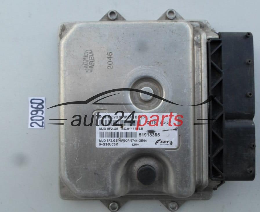 ECU ENGINE CONTROLLER FIAT PUNTO EVO MJD 8F2.GE, MJD8F2GE, 51918365