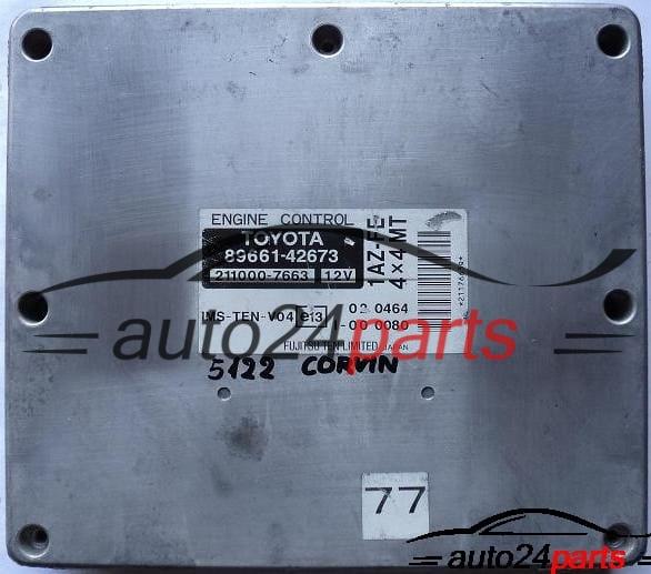 Ecu Engine Controller Toyota Rav4 2 0 Vvti 1az Fe Fujitsu 2110007663 211000 7663 8966142673 89661 42673 Auto24parts