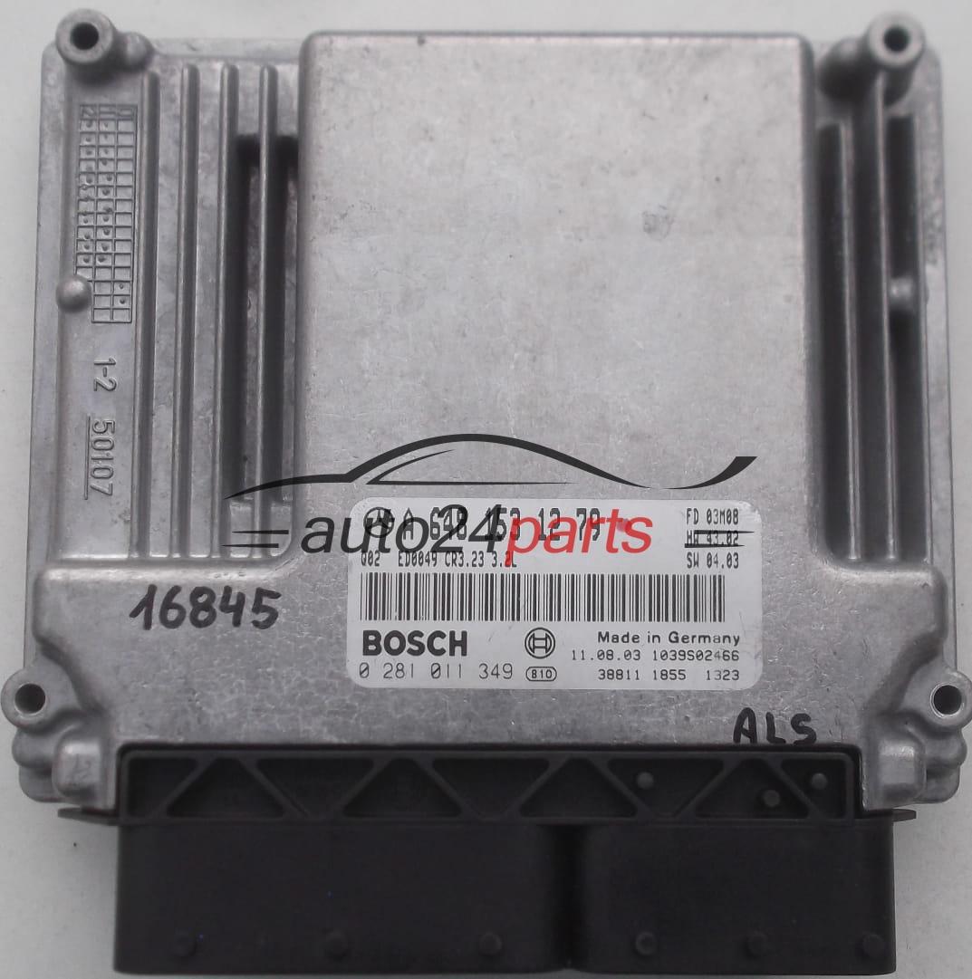 ECU ENGINE CONTROLLER MERCEDES W211 320 CDI BOSCH 0 281 011 349,  0281011349, A 648 153 12 79, A6481531279, 6481531279