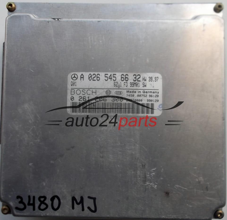 ECU ENGINE CONTROLLER MERCEDES W202 C280, W210 E320, W168 ML320 BOSCH  0261206300, 0 261 206 300, A0265456632, A 026 545 66 32, 0265456632