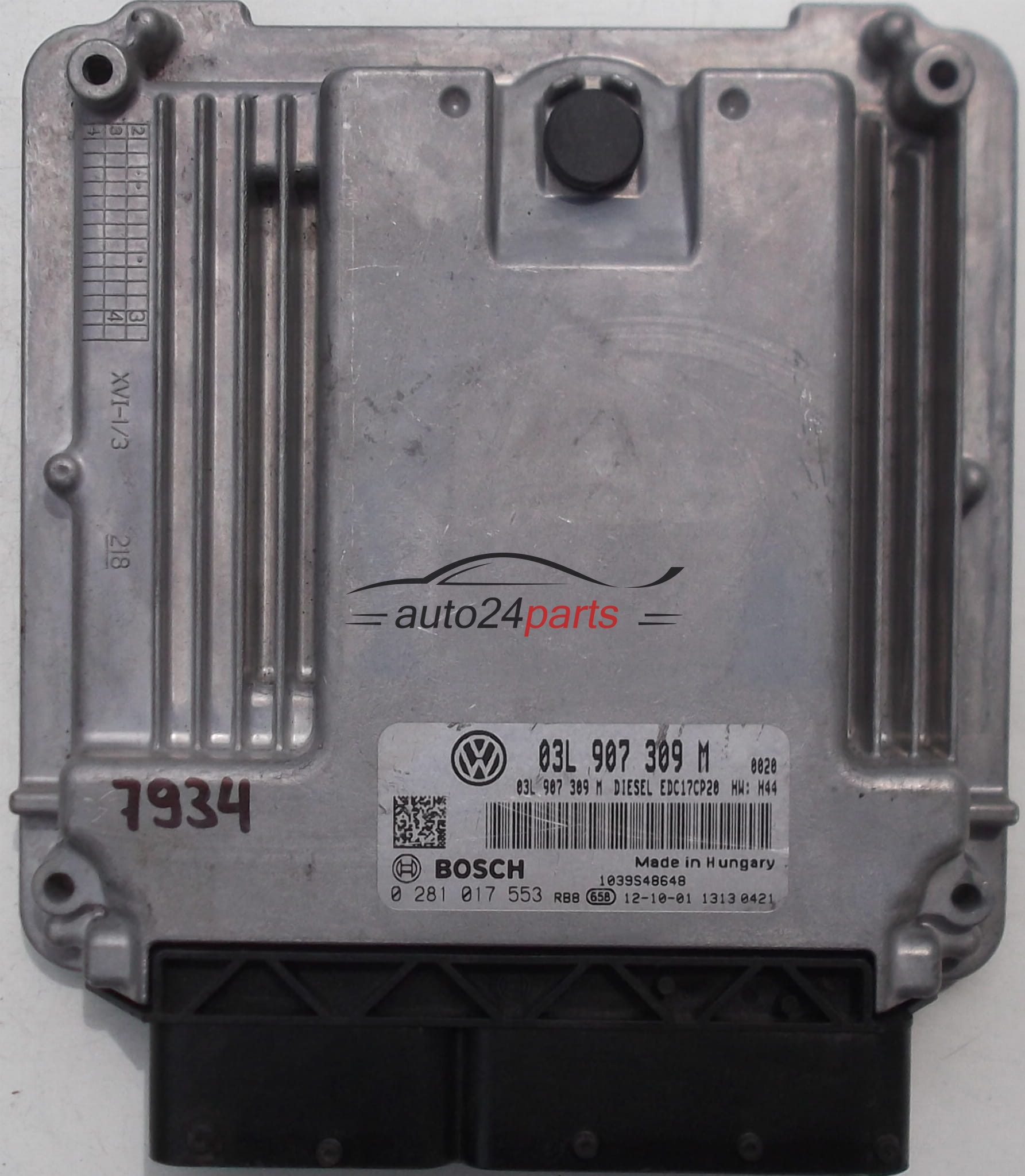 ECU ENGINE CONTROLLER VW VOLKSWAGEN T5 TRANSOPRTER 2 0 TDI, BOSCH 0 281 017  553, BOSCH 0281017553, 03L 907 309 M, 03L907309M