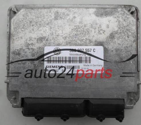 ECU ENGINE CONTROLLER VW VOLKSWAGEN PASSAT 1 6 3B0907557C, 3B0 907 557 C,  SIEMENS 5WP4332 04