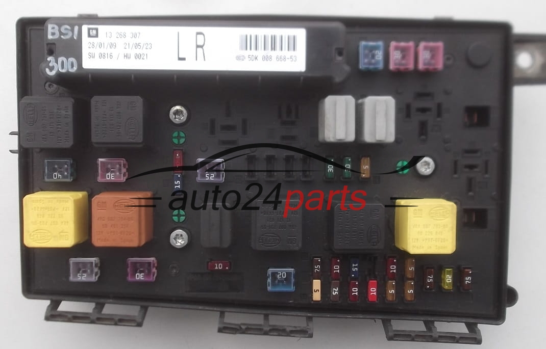 FUSE RELAY BOX ELECTRICAL COMFORT CONTROL MODULE BODY OPEL ZAFIRA B  13268307 LR, 5DK 008 668-53, 5DK008668 - 53, 5DK00866853