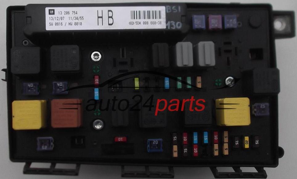 Opel Zafira B Fuse Box : Fuse relay box electrical comfort control module body opel