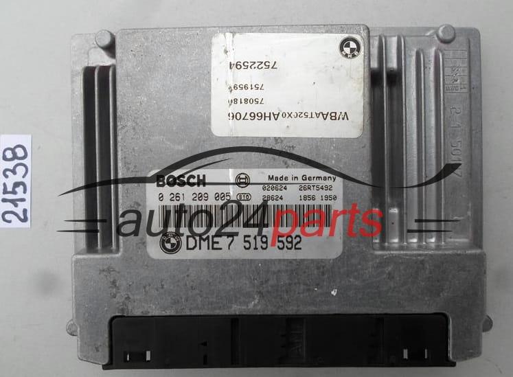 ECU ENGINE CONTROLLER BMW E46 318 2 0 BOSCH 0 261 209 005, 0261209005, DME  7 519 592, DME7519592